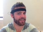 Me wearing the NeuroSky MindBand